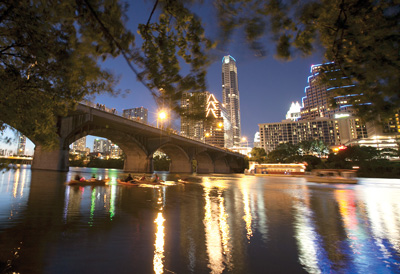 Austin Texas Night Skyline