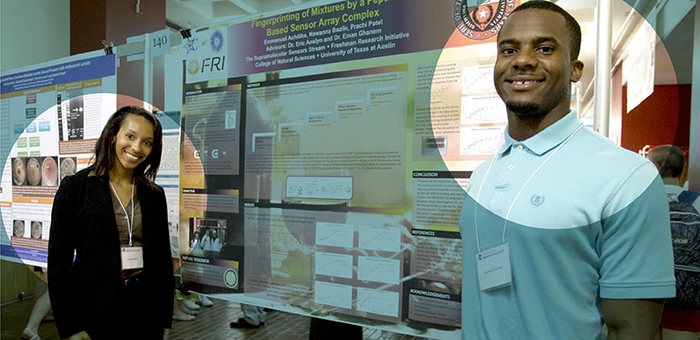 Two Students and Their Research Posters