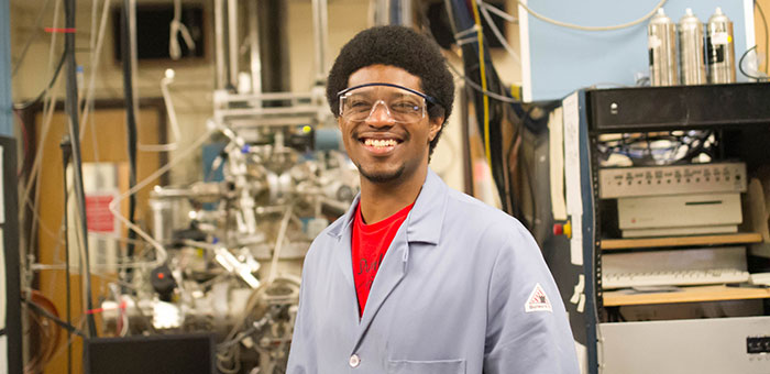 """I want to make a difference in the environmental and energy sector."" Edward Evans, Chemistry"
