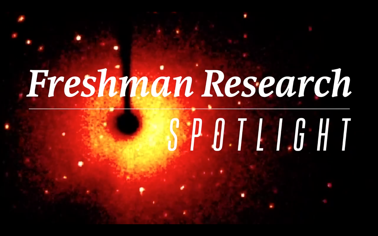 Freshman Research Initiative Spotlights: Crystals and Nanoparticles