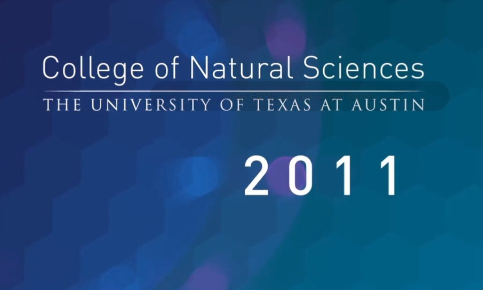 College of Natural Sciences Video: 2011