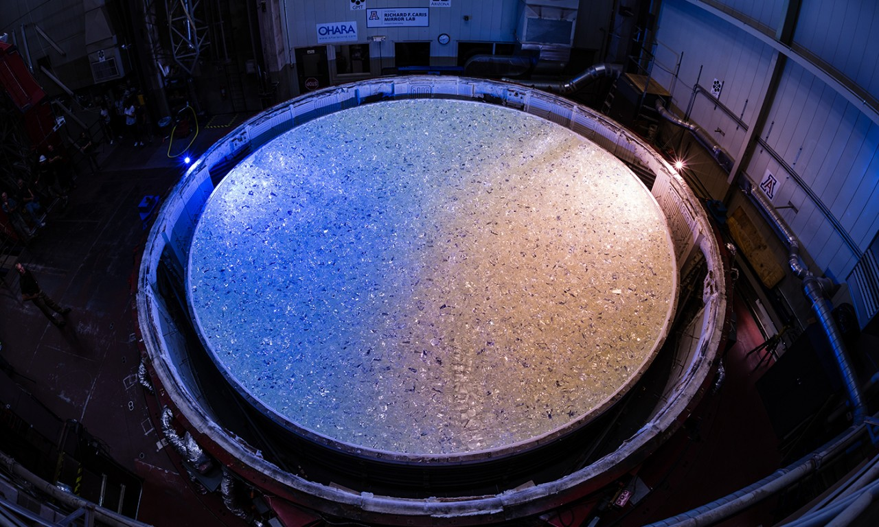 UT Austin and Partners Cast Fifth Massive Mirror for Giant Magellan Telescope
