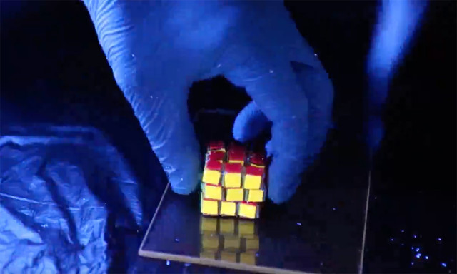 A Squishy Rubik's Cube® that Chemists Built from Polymers Holds Promise for Data Storage